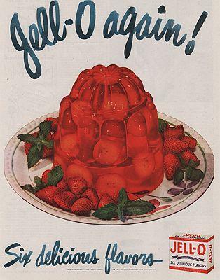 ORIG VINTAGE MAGAZINE AD/ 1948 JELL-O ADillustrator- N/A - Product Image