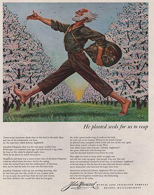 ORIG VINTAGE MAGAZINE AD/ 1949 JOHN HANCOCK INSURANCE ADillustrator- Floyd  Davis - Product Image