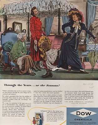 ORIG VINTAGE MAGAZINE AD/ 1950 DOW CHEMICAL CO.illustrator- Robert  Fawcett - Product Image