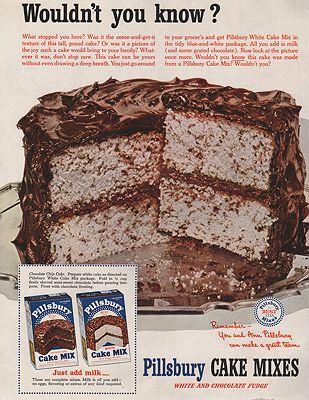 ORIG VINTAGE MAGAZINE AD/ 1951 PILLSBURY CAKE MIX ADillustrator- N/A - Product Image