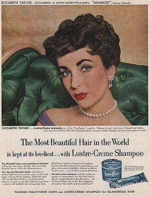 ORIG VINTAGE MAGAZINE AD/ 1952 LUSTRE-CREME SHAMPOO ADillustrator- N/A - Product Image