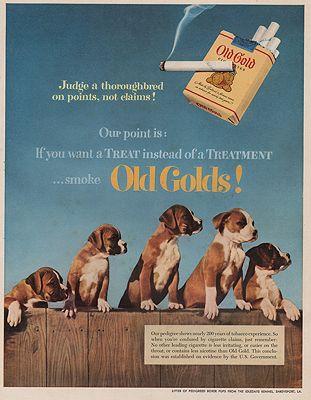 ORIG VINTAGE MAGAZINE AD/ 1952 OLD GOLD CIGARETTES ADillustrator- N/A - Product Image