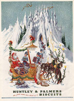 ORIG VINTAGE MAGAZINE AD/ 1953 HUNTLEY & PALMER BISCUITSillustrator- Pauline  Baynes - Product Image