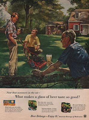ORIG VINTAGE MAGAZINE AD/ 1955 BEER BREWERS FOUNDATIONSiebel (Illust.), Fred, Illust. by: Fred  Siebel - Product Image