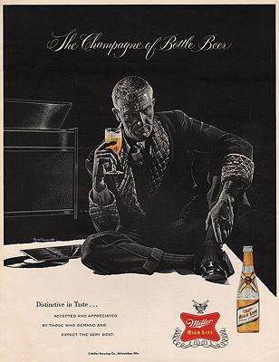 ORIG VINTAGE MAGAZINE AD/ 1959 MILLER HIGH LIFE BEER ADillustrator- John  McCormack - Product Image