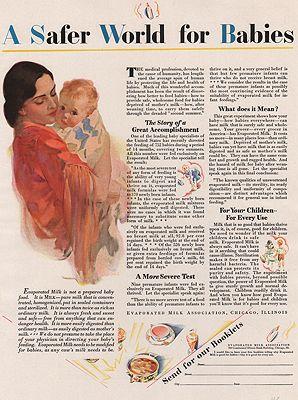 ORIG VINTAGE MAGAZINE AD/1929 EVAPORATED MILK ASSOC. ADillustrator- Haddon  Sundblom - Product Image