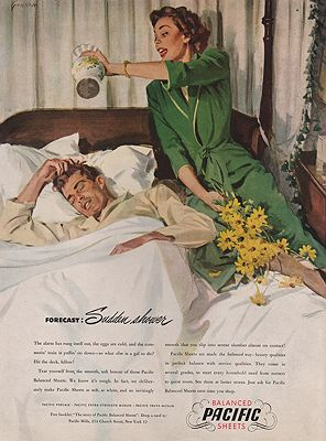 ORIG VINTAGE MAGAZINE AD/1948 PACIFIC SHEETS ADillustrator- N/A - Product Image
