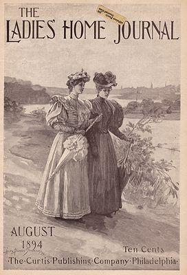 ORIG. VINTAGE MAGAZINE COVER - LADIES HOME JOURNAL - AUGUST 1894illustrator- Alice Barbara  Stephens - Product Image