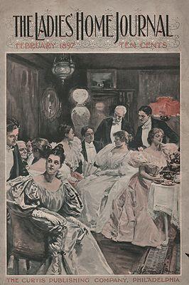 ORIG. VINTAGE MAGAZINE COVER - LADIES HOME JOURNAL - FEBRUARY 1897illustrator- Alice Barber   Stephens - Product Image