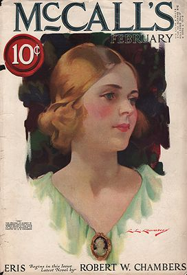ORIG. VINTAGE MAGAZINE COVER - MCCALL'S - FEBRUARY 1922illustrator- C.E.  Chambers - Product Image