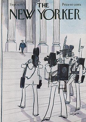 ORIG VINTAGE MAGAZINE COVER - THE NEW YORKER - SEPTEMBER 8 1975illustrator- Charles  Saxon - Product Image