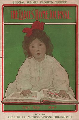 ORIG VINTAGE MAGAZINE COVER/  LADIES HOME JOURNAL - MAY 1904illustrator- Jessie Wilcox  Smith - Product Image