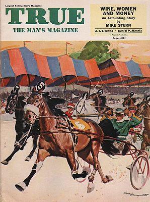 ORIG VINTAGE MAGAZINE COVER / TRUE - AUGUST 1953illustrator- Warren  Baumgartner - Product Image