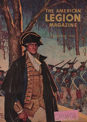 ORIG VINTAGE MAGAZINE COVER/ AMERICAN LEGION MAGAZINE - FEBRUARY 1943Dunn, Harvey, Illust. by: Harvey  Dunn - Product Image