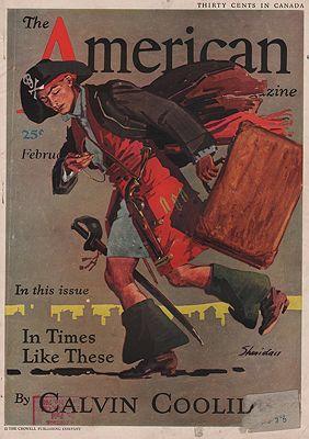 ORIG VINTAGE MAGAZINE COVER/ AMERICAN MAGAZINE - FEBRUARY 1932illustrator- John  Sheridan - Product Image
