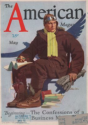 ORIG VINTAGE MAGAZINE COVER/ AMERICAN MAGAZINE - MAY 1930illustrator- John  Sheridan - Product Image