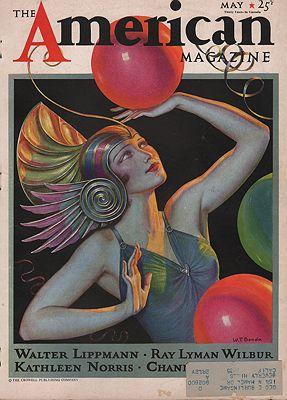 ORIG VINTAGE MAGAZINE COVER/ AMERICAN MAGAZINE - MAY 1933illustrator- W.T.  Benda - Product Image