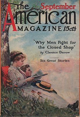 ORIG VINTAGE MAGAZINE COVER/ AMERICAN MAGAZINE - SEPTEMBER 1911illustrator- Stanley  Arthurs - Product Image