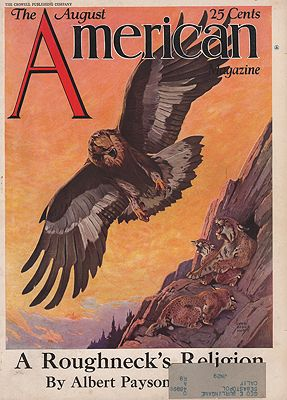 ORIG VINTAGE MAGAZINE COVER/ AMERICAN MAGAZINE AUGUST 1920SHunt (Illust.), Lynn Bogue, Illust. by: Lynn Bogue  Hunt - Product Image