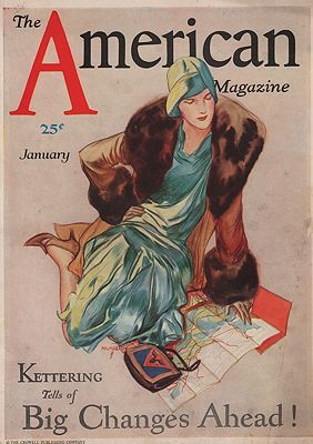 ORIG VINTAGE MAGAZINE COVER/ AMERICAN MAGAZINE - JANUARY 1925Holmgren (Illust.), John, Illust. by: John  Holmgren - Product Image