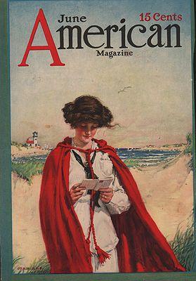 ORIG VINTAGE MAGAZINE COVER/ AMERICAN MAGAZINE - JUNE 1913Rae (Illust.), John, Illust. by: John  Rae - Product Image
