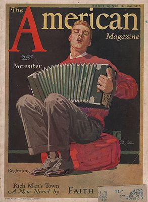 ORIG VINTAGE MAGAZINE COVER/ AMERICAN MAGAZINE - NOVEMBER 1931Sheridan (Illust.), John, Illust. by: John  Sheridan - Product Image