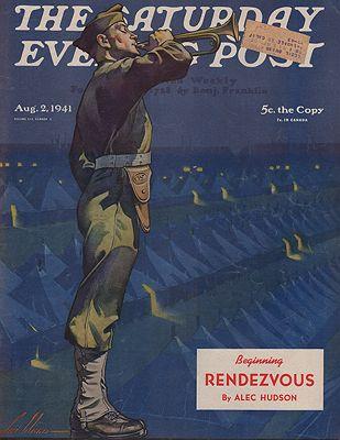 ORIG VINTAGE MAGAZINE COVER/ AUGUST 2 1941Weld (Illust.), Ski, Illust. by: Ski  Weld - Product Image
