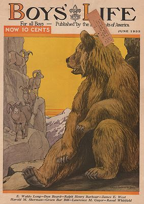 ORIG VINTAGE MAGAZINE COVER/ BOYS LIFE - JUNE 1933Bull (Illust.), Charles Livingston, Illust. by: Charles Livingston   Bull - Product Image