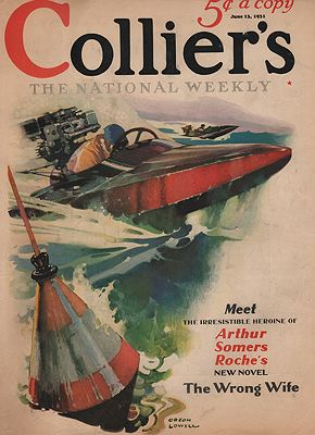 ORIG VINTAGE MAGAZINE COVER/ COLLIERS - JUNE 13 1931illustrator- Orson  Lowell - Product Image