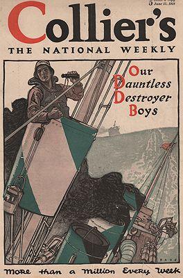 ORIG VINTAGE MAGAZINE COVER/ COLLIER'S - JUNE 15 1918illustrator- Herbert  Paus - Product Image