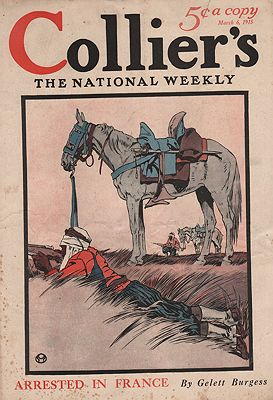ORIG VINTAGE MAGAZINE COVER/ COLLIERS - MARCH 6 1915illustrator- Edward  Penfield - Product Image