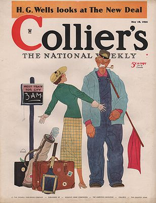 ORIG VINTAGE MAGAZINE COVER/ COLLIERS - MAY 18 1935illustrator- Harry  Beckhoff - Product Image