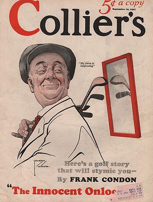 ORIG VINTAGE MAGAZINE COVER/ COLLIERS - SEPTEMBER 10 1927illustrator- Lawson  Wood - Product Image
