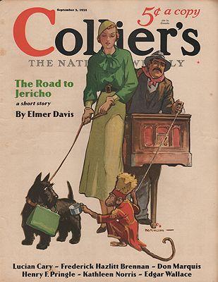 ORIG VINTAGE MAGAZINE COVER/ COLLIER'S - SEPTEMBER 3 1932illustrator- Jay Hyde  Barnum - Product Image