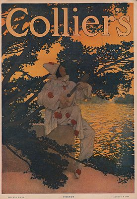 ORIG VINTAGE MAGAZINE COVER/ COLLIERS - AUGUST 8 1908Parrish (Illust.), Maxfield, Illust. by: Maxfield  Parrish - Product Image