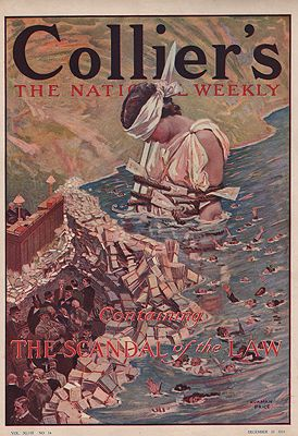 ORIG VINTAGE MAGAZINE COVER/ COLLIERS - DECEMBER 23 1911Price (Illust.), Norman, Illust. by: Norman  Price - Product Image