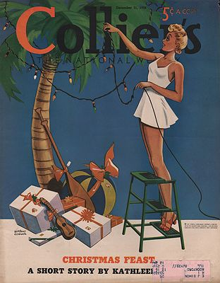 ORIG VINTAGE MAGAZINE COVER/ COLLIERS - DECEMBER 31 1938Crouch (Illust.), Arthur, Illust. by: Arthur  Crouch - Product Image