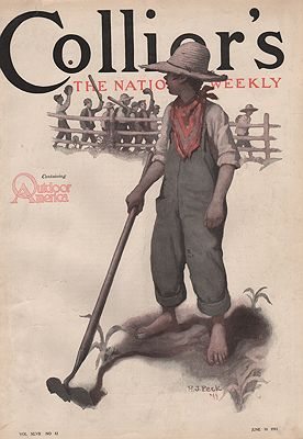 ORIG VINTAGE MAGAZINE COVER/ COLLIER'S - JUNE 10 1911Peck (Illust.), H.J., Illust. by: H.J.  Peck - Product Image