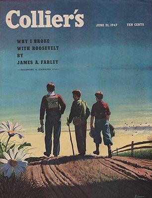 ORIG VINTAGE MAGAZINE COVER/ COLLIER'S - JUNE 21 1947Ekman (Illust.), Stan, Illust. by: Stan  Ekman - Product Image