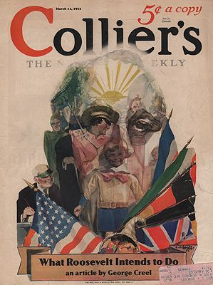 ORIG VINTAGE MAGAZINE COVER/ COLLIER'S - MARCH 11 1933Beall (Illust.), C. C., Illust. by: C.C.  Beall - Product Image