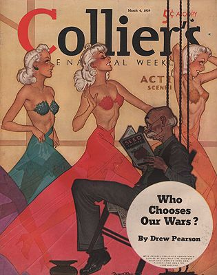 ORIG VINTAGE MAGAZINE COVER/ COLLIER'S - MARCH 4 1939Reid (Illust.), Robert O., Illust. by: Robert O.  Reid - Product Image