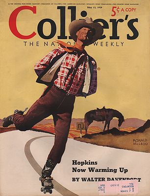 ORIG VINTAGE MAGAZINE COVER/ COLLIER'S - MAY 13 1939McLeod (Illust.), Ronald, Illust. by: Ronald  McLeod - Product Image