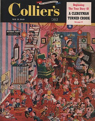 ORIG VINTAGE MAGAZINE COVER/ COLLIER'S - MAY 21 1949Berenstain (Illust.), Stanley and Janice, Illust. by: Stanley and Janice  Berenstain - Product Image