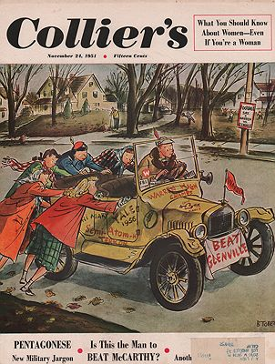 ORIG VINTAGE MAGAZINE COVER/ COLLIER'S - NOVEMBER 24 1951Tobey (Illust.), Barney, Illust. by: Barney  Tobey - Product Image