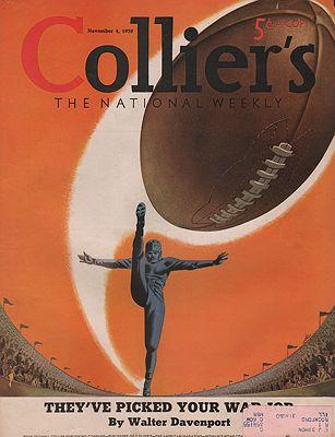 ORIG VINTAGE MAGAZINE COVER/ COLLIERS - NOVEMBER 4 1939Heier (Illust.), Henry, Illust. by: Henry  Heier - Product Image