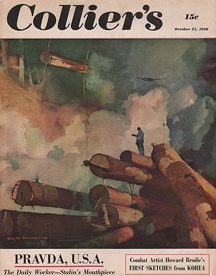 ORIG VINTAGE MAGAZINE COVER/ COLLIERS - OCTOBER 21 1950Mason (Illust.), Roy - Product Image