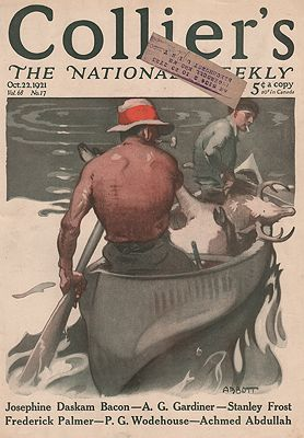 ORIG VINTAGE MAGAZINE COVER/ COLLIERS - OCTOBER 22 1921Abbott (Illust.), S. N., Illust. by: S.N.  Abbott - Product Image