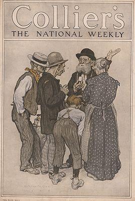 ORIG VINTAGE MAGAZINE COVER/ COLLIERS - OCTOBER 9 1909Clark (Illust.), Walter Appleton, Illust. by: Walter Appleton   Clark  - Product Image