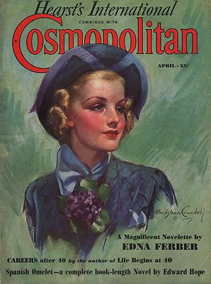 ORIG VINTAGE MAGAZINE COVER/ COSMOPOLITAN APRIL 1937Crandall (Illust.), Bradshaw, Illust. by: Bradshaw  Crandall - Product Image