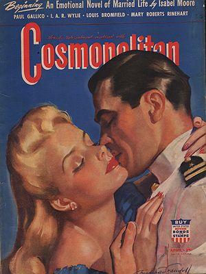 ORIG VINTAGE MAGAZINE COVER/ COSMOPOLITAN APRIL 1942Crandall (Illust.), Bradshaw, Illust. by: Bradshaw  Crandall - Product Image